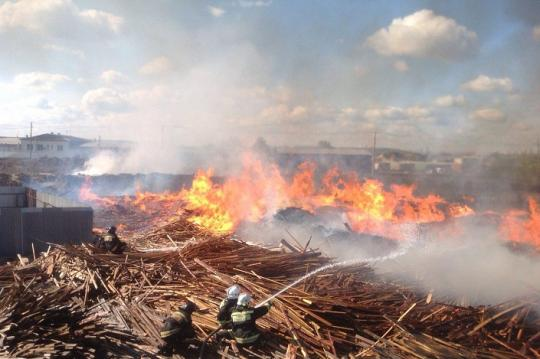 Большой пожар 25мая2016 в иркутске