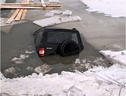 Шофёр автомобиля провалившегося под лед нареке Лене наказан административным штрафом