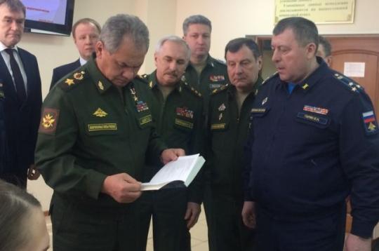 Руководитель МинобороныРФ Сергей Шойгу приехал вКрасноярск