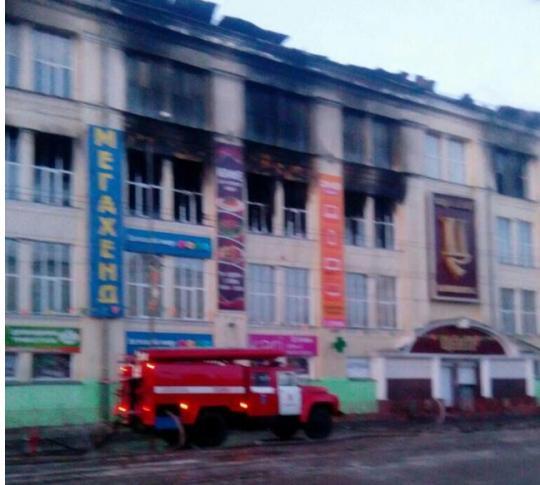 ВАнгарске вовремя пожара изторгового центра эвакуировались неменее 100 человек