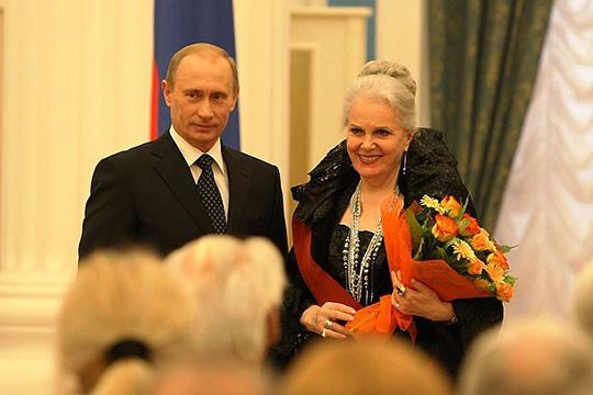 Путин иМедведев поздравили Быстрицкую сюбилеем